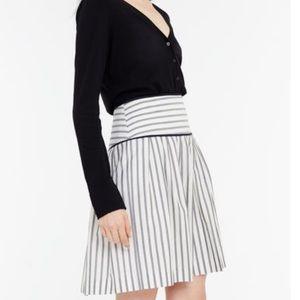 Ann Taylor Tall Striped Full Skirt